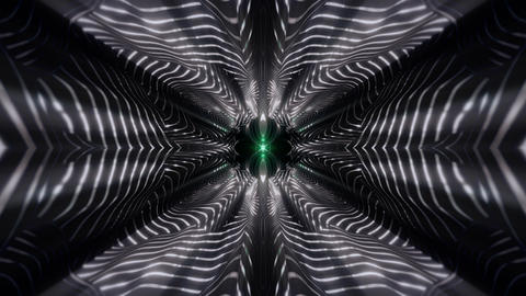 seamless looped 3D rendering animation of an abstract striped kaleidoscope CG動画