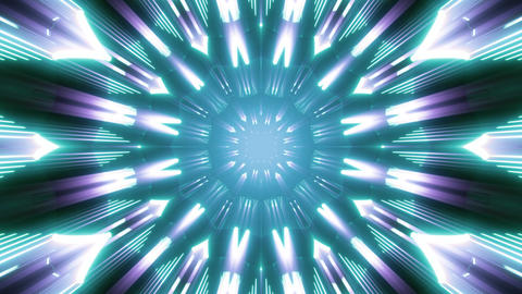 seamless looped 3D rendering animation of an abstract colorful glow tunnel Videos animados