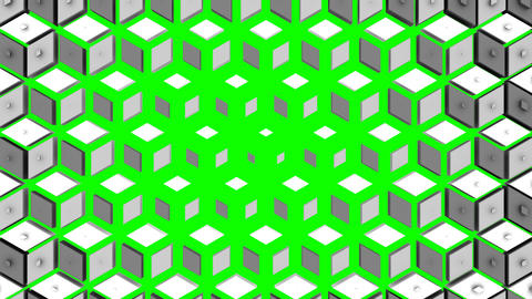 Rhombuses Form A Wave Animation