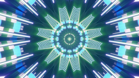 seamless looped 3D rendering animation of an abstract colorful kaleidoscope Animation