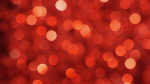 Red Christmas illumination in defocus. Bokeh background. Out of focus Live Action
