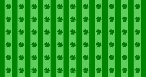 Patrick Day background with falling shamrock leaf pattern. For festive pub party Live Action