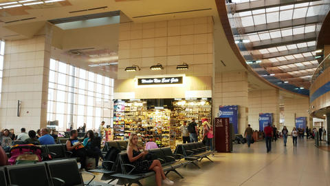 Timelapse of Sharm El Sheikh International Airport. People are waiting for their Live Action