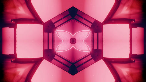 seamless looped 3D rendering animation of an abstract pink kaleidoscope CG動画
