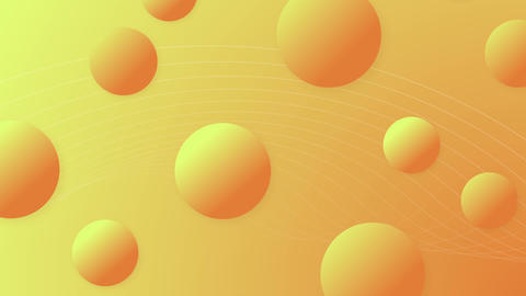 3D animated background with gradient balls CG動画