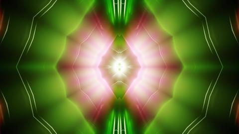 futuristic colorful kaleidoscope effect 3d render animation CG動画
