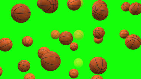 Basket Ball particle loop green screen Videos animados