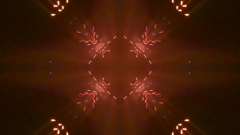 colorful kaleidoscopic firework 3d render animation CG動画