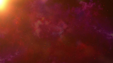 Animation of the space in red Animation