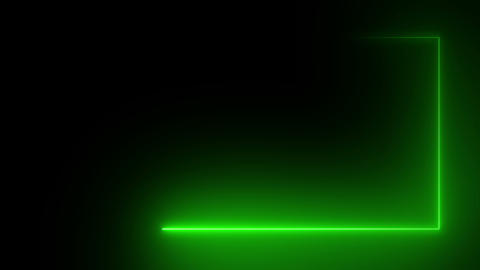 Abstract bright neon rectangular frame Animation