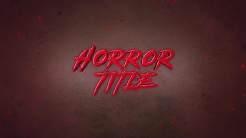 Horror Title Motion Graphics Template