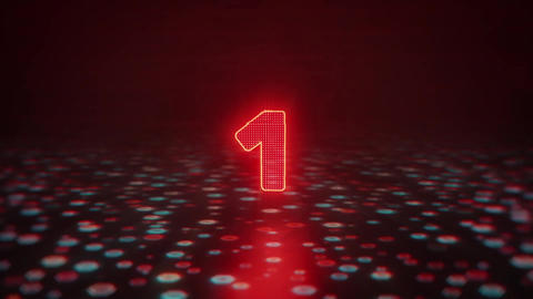 Glitch Countdown Title Motion Graphics Template