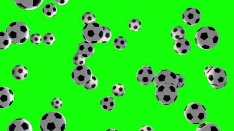 Soccer Ball loop green screen animation Animation