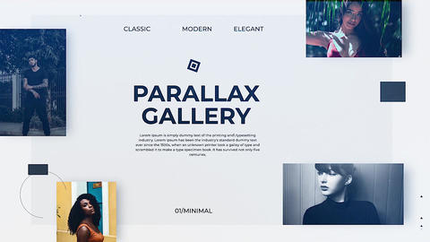 Parallax Gallery Apple Motion Template