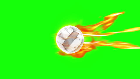 ValleyBall fire shot green screen loop animation Animation