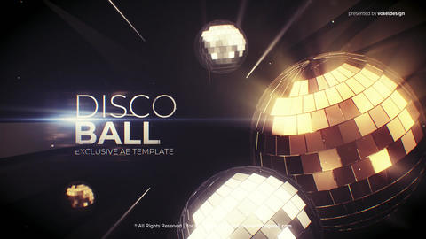 Disco Ball Opener After Effects Template