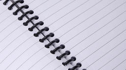BLANK NOTE PAD EXTREME CLOSE UP STOCK FOOTAGE* Acción en vivo