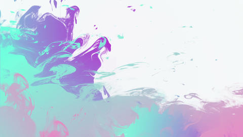 Colorful ink background with place for text Stock Video Footage