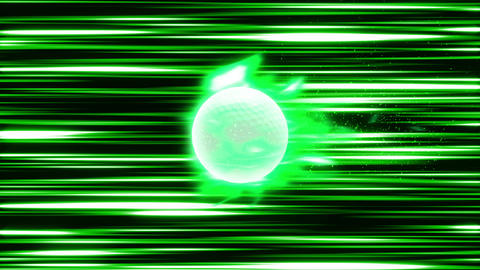 Golf Ball fire green loop animation Videos animados
