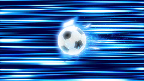 Soccer Ball fire blue loop animation Videos animados
