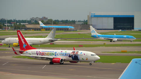 Traffic at Schiphol Airport Live Action