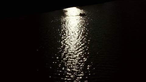 1080p Catamaran Crosses Sun Path Footage