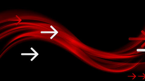Dark red waves and arrows video animation Animation