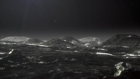 Flight over Pluto's surface Animation