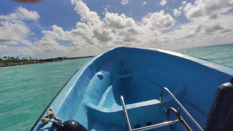 Boat trip in caribbean sea Live Action