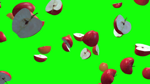 Apple half loop green screen animation Animation