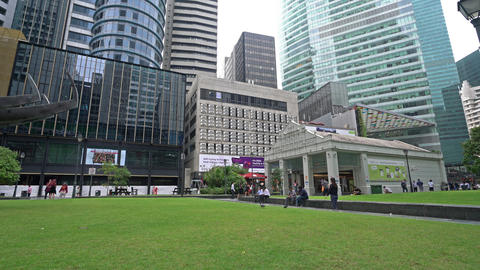 Raffles place in Singapore Live Action