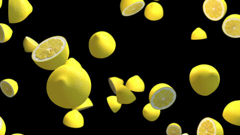 Lemon particle loop animation Animation
