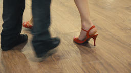 Dancing latin dance. Close-up of legs dancing tango Live Action