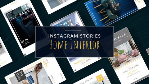 Instagram Stories: Home Interior After Effects Template