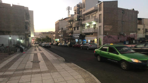 Aqaba, Jordan - Evening streets of the city part 18 Live Action