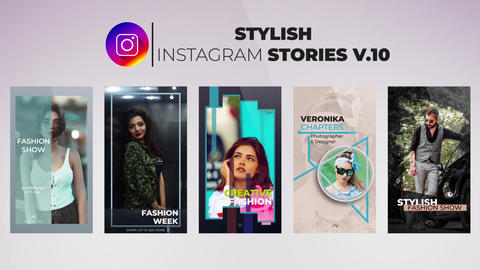 Stylish Instagram Stories v 10 After Effects Template
