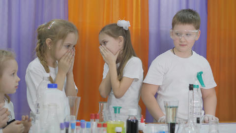 Chemical experiments for children. Fun experiments for children. Children cover Live Action