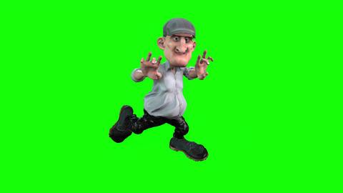 462 4K 3d animated cartoon avatar ugle small man Animation