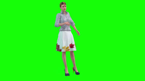 470 4k 3d animated girl feeling sick Animation