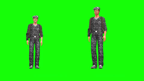 474 4K 3d animated two soldiers street dancng Animation