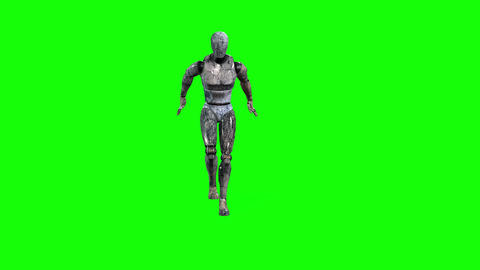476 4k 3D animated robot stamping and walking Animation