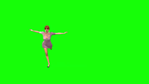 478 4K 3d animated girl ballet dancing and speaking from stage Animation