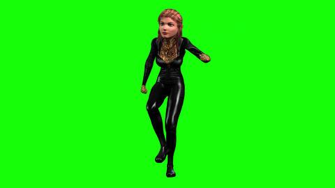 480 4k 3d animated cartoon girl dances Animation