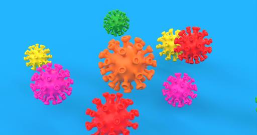Wuhan virus disease. Pneumonia disease. Biology medical science concept. Medical Live Action