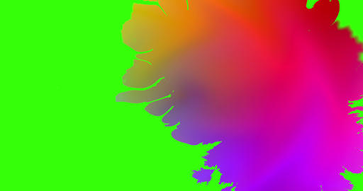 multi color gradient abstract splash ink paint brush horizontal stroke colored transition on chroma Live Action