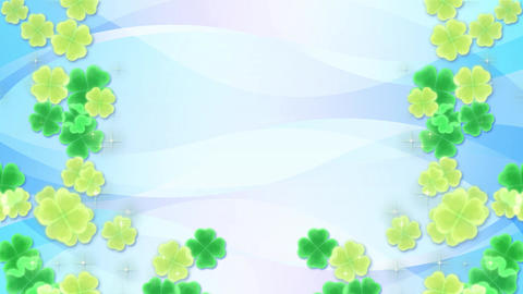 Four Leaf Clover-side-blue Animation