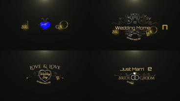 GOLD WEDDING TITLE Apple Motion Template