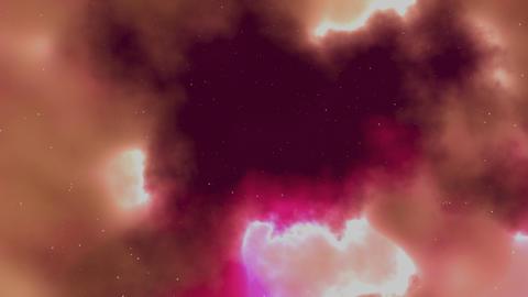 Pink Nebulae Background CG Animation