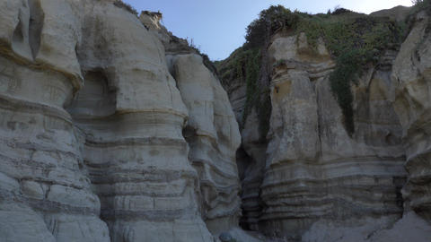 Sand Canyon Scenic Landscape Marine bluffs cliff on the beach, San Clemente Live Action