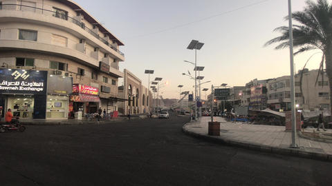 Aqaba, Jordan - Evening streets of the city part 13 Live Action
